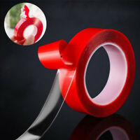 15MM/30MM 3Metre Transparent Double Sided Polyester Tape with Red MOPP Liner