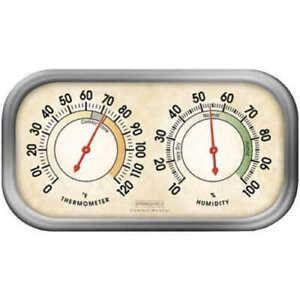 Springfield 90113-1 Humidity Meter/Thermometer Combo Indoor Use Only