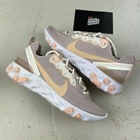 NIKE REACT ELEMENT 55 PINK WHITE UK 9 EU 44 US 11.5 - BQ2728 012 NEW