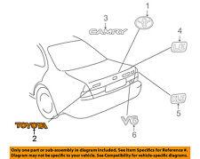 TOYOTA OEM 7544733040 97-01 Camry Trunk Lid Emblem Badge Nameplate 75447-33040