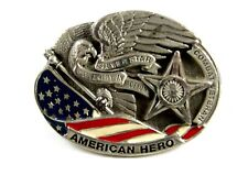 Héroe Americano Estrella de Plata Peltre Hebilla Cinturón Co 111014
