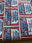 Vintage Anheuser Busch Budweiser Fabric 2+ Yards 45 Inches Wide Cotton
