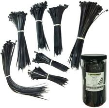 """New 00004000  listing Nylon Cable Tie Kit 650 Zip Ties Assorted Lengths 4"""" 6"""" 8"""" 11"""" Black"""