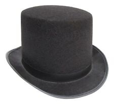 Black Top Hat Felt Topper Slash Steampunk Victorian Charles Dickens