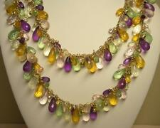 SIGNED JOAN RIVERS GOLD EP MULTI COLOR BEAD & RHINESTONE NECKLACE NEW IN BOX