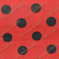 Polka Dot Poly Cotton 1 inch Fabric 58 inches width sold by yard Red / Black