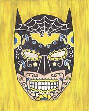 Batman Day of the Dead print 8X10, Comic character and Pop Art