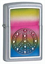 Zippo Briquet PEACE FOR ALL M. Emblème U. 11 Swarovski Elements NOUVEAU paix neuf dans sa boîte
