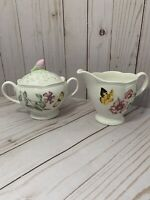 Lenox by Laurie Le Luyer Butterfly Meadow Cream And Sugar Bowl