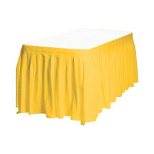 """2 Plastic Table Skirts 13' X 29"""" Streches-19' - Yellow"""