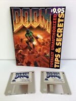 "Vintage 1994 Doom Shareware IBM PC 3.5"" Floppy Disks w/ Tips & Secrets Book Rare"