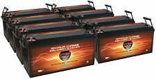 QTY 8 Solar PV Wind VMAX SLR200 AGM Sealed 12V Deep Cycle Batteries 1600ah total