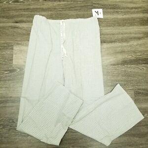 Vtg 1996 Calvin Klein Sz Medium Sleepwear Pajama Bottom Plaid Pants Drawstring