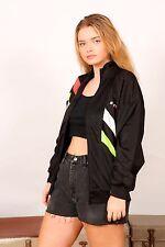Vintage neon black & white HI-TEC X4 tracksuit jacket sports jacket 80s 90s