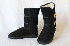 Womens 7 UKALA TAJ LOW Toggle Merino Wool Winter Snow Boots Black Suede W80013