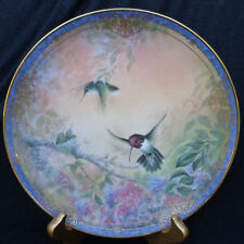 1993 Nature'S Little Treasures hummingbirds Wings Of Grace Bradford 2nd Plate