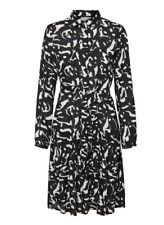 MAMA-LICIOUS Womens Black White Patterned 2 in 1 Maternity Dress Medium BNWT
