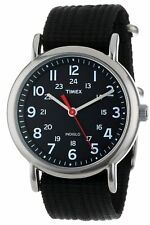 New Timex T2N647 Unisex Easy Reader Weekender Slip Thru Indiglo 30m WR Watch UK