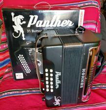 Hohner Panther Diatonic Accordion Keys GCF NEW in Box with bonus Books