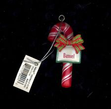 Candy Cane Ornament DANIEL Christmas Stocking Stuffer Holiday Gift Tag Teacher..
