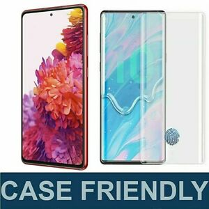 Galaxy S10 S20 Case Friendly Tempered Glass Screen Protector 9H HD For Samsung