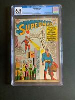 Superman #168 🔥 CGC 6.5 OW/W Pages Kennedy Memorial! DC Comics 1964!
