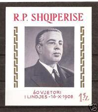 ALBANIA # 1190 MNH Enver Hoxha Communist Leader Souvenir Sheet
