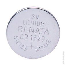 Pile bouton lithium blister CR1620 RENATA 3V 68mAh