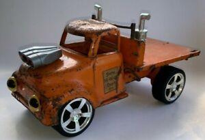 "1950's Tonka Toy, CUSTOM RAT ROD TRUCK, ""STATE HIGHWAY DEPT.""  (Hydraulic Dump)"