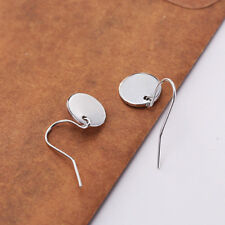 Silver Gold Small Disc Hook Dangle Earrings Simple Style Round Disk Design