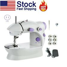 US Portable Electric Sewing Machine Desktop Household Tailor 2 Speed Foot Pedal