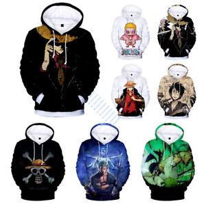 NEW One Piece Anime Hoodies Pullover Coat Sweatshirt Cosplay Costume