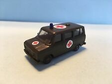 Herpa Ford Transit Rotes Kreuz Ambulance Military Green 1/87 Scale Plastic Car