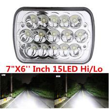 """7""""X6'' Inch 15LED HID Bulb Light H4 Crystal Clear Sealed Beam Headlamp Headlight"""