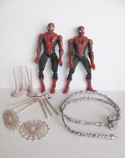 2x SPIDER MAN TOYBIZ OFFICIAL MOVIE WEB BLAST TOY BIZ SPIDERMAN