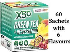 X50 Green Tea + Resveratrol Assorted 6 Flavours 60 Sachets