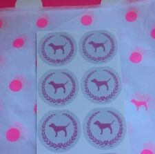 "NEW Victoria's Secret PINK💕Dog Wreath🌟 Stickers (1) Sheet 6PCS ""4 X 4""💎"