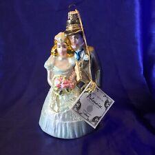Beautiful Komozja Polonaise Collection Glass Ornament Bride & Groom Kurt Adler