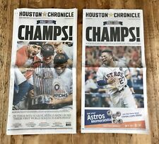 2017 Houston Astros Chronicle Newspaper World Series PLUS Rare Stadium Edition