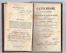 catechisme tout en histoires du concile de trente  abbe' c.poussin volume second
