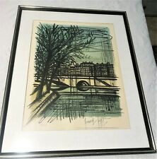"""Vintage Signed BERNARD BUFFET Lithograph """"NOTRA DAME from the EAST"""" #07/125"""
