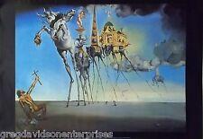 Salvador Dali Temptation Of Saint Anthony 27x39 La Tentation Poster 1982
