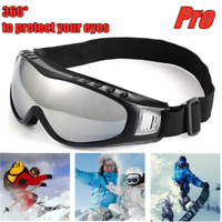 Snow Sports Glasses Ski Anti-fog Lens Snowmobile Snowboard Motorcycle Goggles
