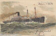 Hamburg-Amerika-Linie AK 1906 Dampfer Patricia Seepost Schiffe Seefahrt 1606266
