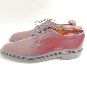 VINTAGE JOHNSTON & MURPHY ARISTOCRAFT 11.5 AA/B SHELL CORDOVAN PTB SHOES EUC