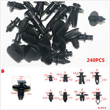 240pcs Mixed Fastener Car Bumper Clips Retainer Rivet Door Panel Fender Liner