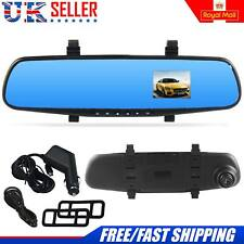 "HD 1080P 2.8"" Dual Lens Car DVR Rear View Mirror Dash Cam Video Camera Recorder"
