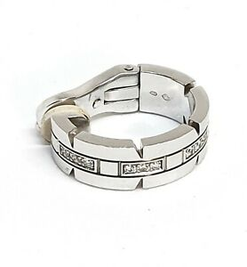Cartier single hoop  earring white gold 18ct and diamonds