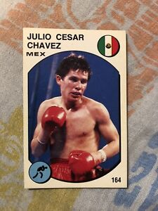 1988 Supersport Panini Boxing Sticker Card Julio Cesar Chavez World Champ Mexico