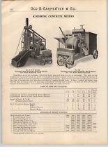 1900's PAPER AD Koehring Concrete Mixer Cement Drum Type Gas Gasoline Engine